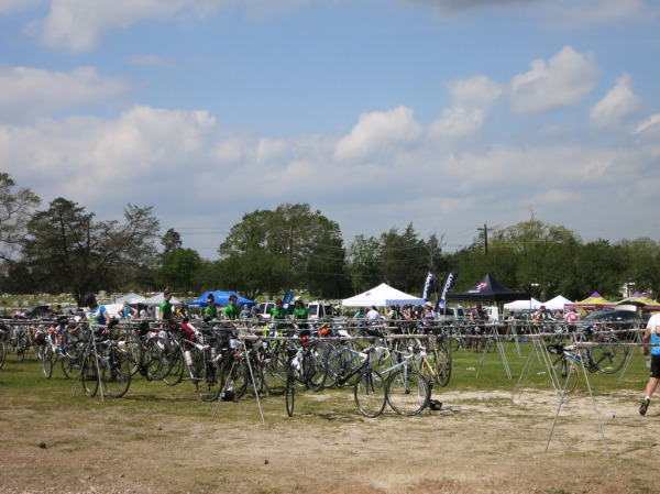 Some remaining bikes at the lunch stop
