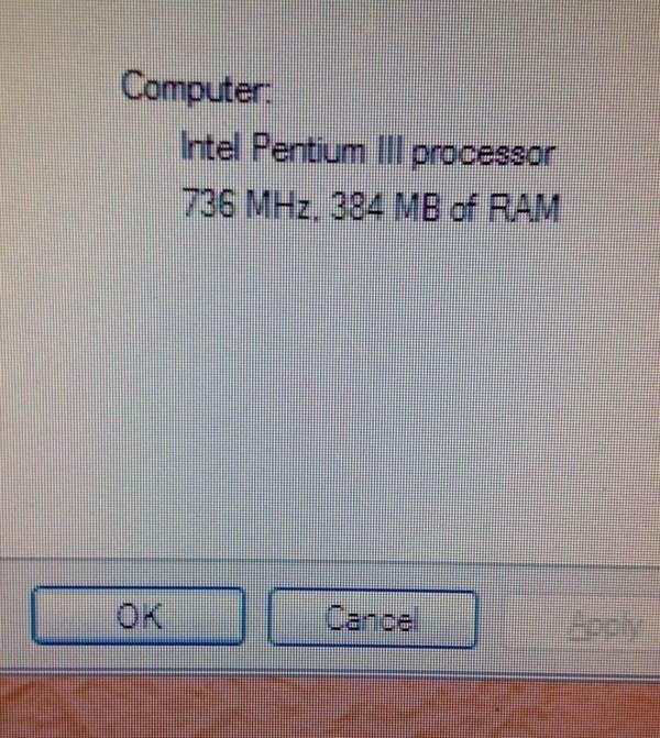 384MB of RAM. Weeeeeeee