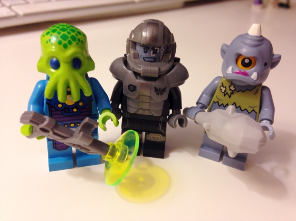Nothing special about these, especially since you can't tell the cyclops is a female.