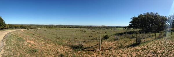 Panorama of Enchanted Rock and surrounding area. Click for larger size.
