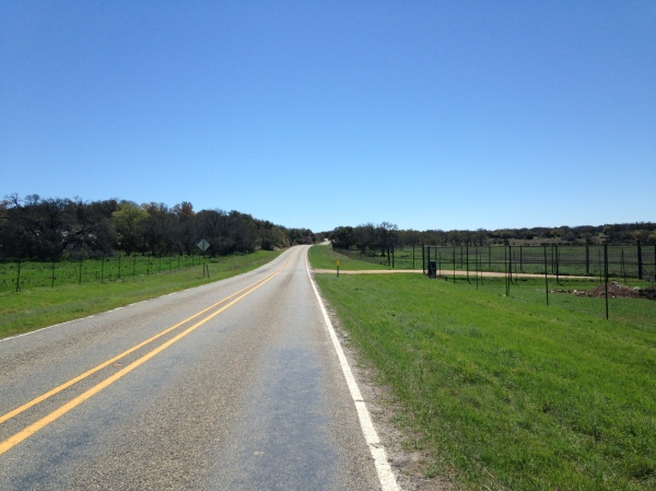 It looks like flat open road, but in fact it was about 4 miles of gentle incline that killed my legs.